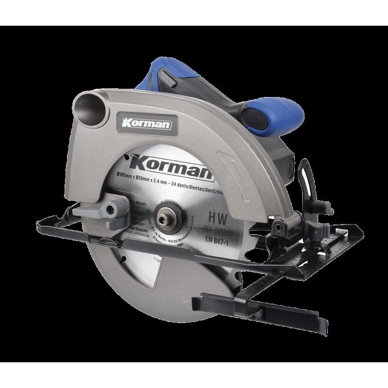 Scie circulaire 1500W 185mm  ( Scier / Découper )  Korman.fr