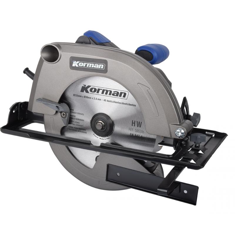 Scie circulaire 2000W 235mm  ( Scier/Découper )  Korman.fr