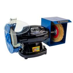 Touret à meuler mixte à brosse 350W 150mm  ( Tronconneuse à métaux et touret )  Korman.fr