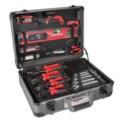 Mallette à outils alu 130 pcs  ( Malette & coffret d'outils )  Korman.fr