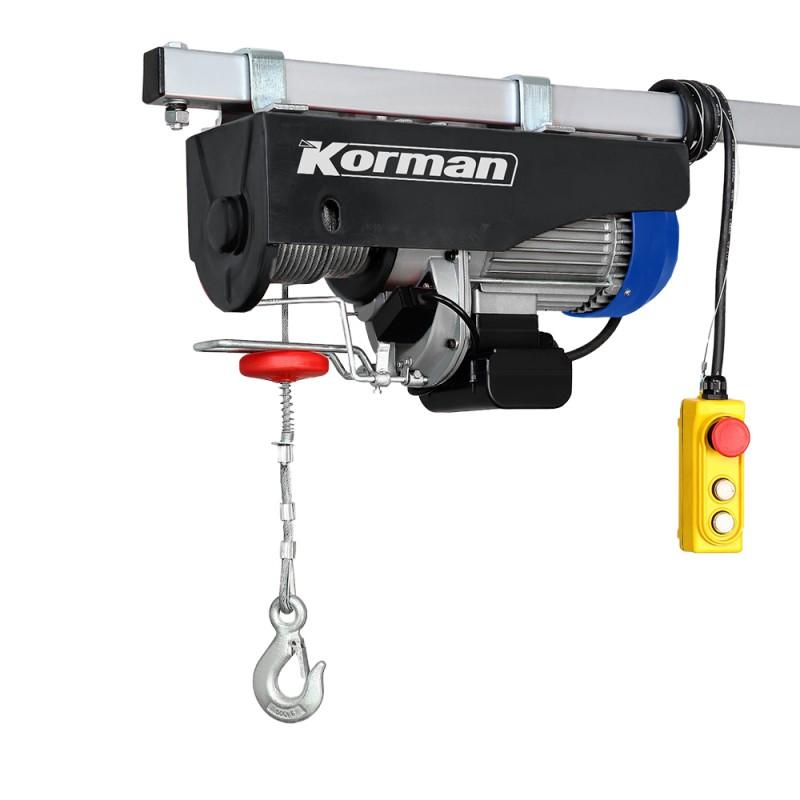 Palan électrique 1600W 500/999Kg  ( Palan électrique et Etau )  Korman.fr