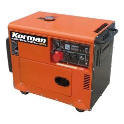 Groupe électrogène Diesel 6400W à démarrage électrique  ( Groupes électrogènes )  Korman.fr