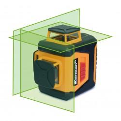 Niveau laser auto-ajustable 360° 3 faisceaux VERT  ( Mesure et niveaux )  Korman.fr