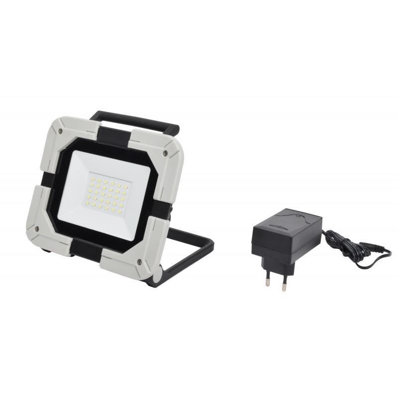 Projecteur de chantier portable à LED extra plat 20W sur batterie - 4000K - 1700 lumens - IP54  ( Eclairage )  Korman.fr
