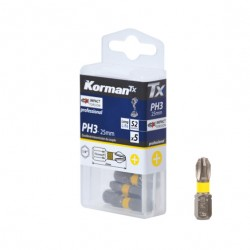 LOT 5 EMBOUTS PH3 25MM S2  ( Embouts de vissage )  Korman.fr