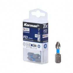 LOT 5 EMBOUTS PZ2 25MM S2  ( Embouts de vissage )  Korman.fr