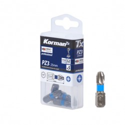 LOT 5 EMBOUTS PZ3 25MM S2  ( Embouts de vissage )  Korman.fr