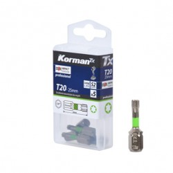 LOT 5 EMBOUTS T20 25MM S2  ( Embouts de vissage )  Korman.fr