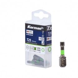 LOT 5 EMBOUTS T25 25MM S2  ( Embouts de vissage )  Korman.fr
