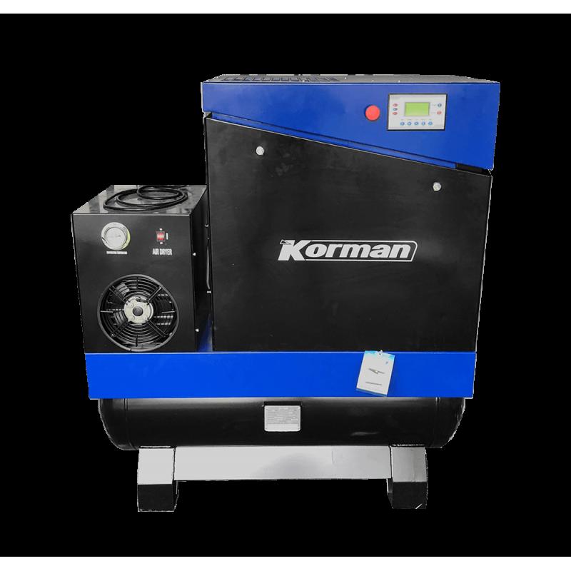 Compresseur à vitesse fixe All in One 7.5kW - 10bar - 200L  ( Compresseur à Vis - vitesse fixe - sécheurs et cuve intégrés ) ...